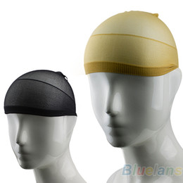 Wholesale NEW Unisex Stocking Wig Liner Cap Snood Nylon Stretch Hairnets Mesh Black Nude Women Men