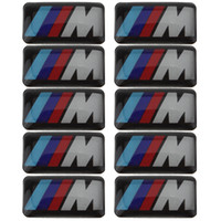 Carbon Fiber Vinyl Film bmw m3 badges - 10X Tec Sport Wheel Badge D Emblem Sticker Decals Logo For bmw M Series M1 M3 M5 M6 dandys