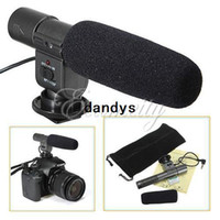Wholesale new DV Video Stereo Microphone For Canon T3i T2i D D D For Nikon D3S D7000 For Pentax K7 K DSLR Camera dandys