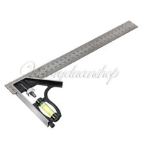 angle level - Adjustable mm Engineers Combination Try Square Set Angle Spirit Level dandys