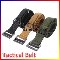 Wholesale New Adjustable Hunting Emergency Rigger Survival Tactical Belt Waist Strap Rescue Militaria Military CQB colors dandys