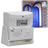 Wholesale Wireless Door Bell Welcome Guest Alarm Chime Motion Sensor Detector Shop Home Store Retail Package dandys