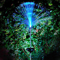 Wholesale Solar Power LED Fibre Optic Colorfull Light Lamp Garden Lawn Yard Path Patio Outdoor Festive Decoration Gift dandys