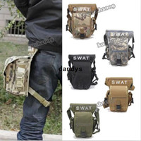 Wholesale Multi Purpose Swat Military Waist Pack Weapons Tactics Outdoor Sport Ride Leg Bag Special Waterproof Drop Utility Thigh Pouch dandys