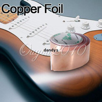 Wholesale 6ft X mm Conductive Copper Foil Tape Strip Strap EMI Shielding for Guitar Pedal Single sided Adhesive dandys