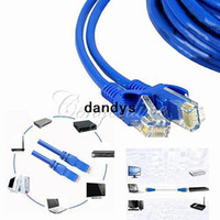 Wholesale New M FT RJ45 CAT5 CAT5E Ethernet LAN Network Net Working Cable M to M Blue dandys