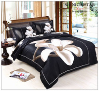 Wholesale USA SIZE D Bedding Duvet Cover Fitted Sheet Pillowcases Flower Print tiger Bedding Set D