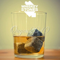 Wholesale 9pcs Whisky Ice Stones Drinks Cooler Cubes Whiskey Scotch on The Rocks Granite dandys