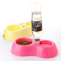 Dogs 27cm 6 cm free shipping Pets can water and feeding amphibious bowl automatic adding water