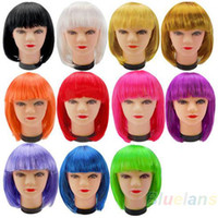 Wholesale Women New Fashion Short BOB style Short Party Full Fake False Wig Wigs Color for Cosplay Synthetic