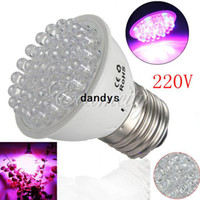 Wholesale 1pcs V E27 RED and BLUE LEDs Hydroponic green house garden flower Light LED Plant Grow Growth Light Bulb Lamp dandys