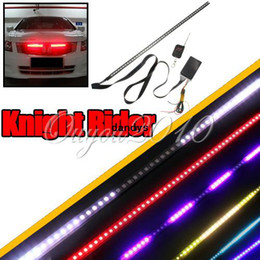 Wholesale Waterproof Color LED RGB Car Strobe Knight Rider Grille Scanner Flashing Flash Strip Light Strip Kit cm Wireless Remote dandys