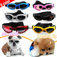 Wholesale Fashion Color Foldable Pet Dog Goggles UV Sunglasses Sun Glasses Eye Wear Dustproof Windproof Protection dandys