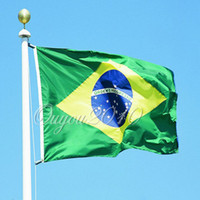 Wholesale Brazil Brazilian Sports Football National Large Flag Banner Pennants WITH METAL GROMMETS X cm dandys