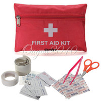 Wholesale Emergency Survival Outdoor Portable FIRST AID KIT Bag Treatment Pack Travel Car Sport Rescue Medical Red Security Protection Kit dandys