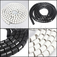 cable tidy - Flexible M Computer TV Spiral Tube Cord Cable Winder Wire Tidy Wrap Kit Organizer Organising dandys