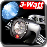 Wholesale 3W Ultra Bright LED Flashlight HeadLight Headlamp Red Laser AAA Fishing Tackle dandys