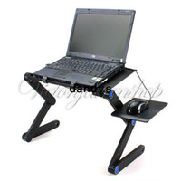 Lapdesks Yes 52.7 cm 360 Degree Portable Folding Black Metal Laptop Notebook Computer Stand Table Desk Bed Office Sofa Tray Free Shipping,dandys