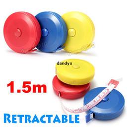Wholesale 2pcs M Colorful Retractable Flexible Body Metric Markings Ruler Tape Measure Sewing Cloth Dieting Tailor dandys