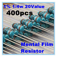Wholesale 1 W Metal Film Resistor Assortment kit Set kinds value Total New dandys