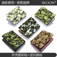 Wholesale free shinppingCamouflage wind shell color film notebook laptop computer protection film foil stickers affixed to send wrist