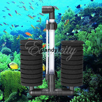 Wholesale Aquarium Biochemical Bio Sponge Filter Air Pump With Suction Cup Fish Tank Fry Shrimp Breeding Oxygen Filtration Foam XY dandys