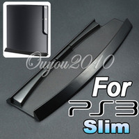 Wholesale New Black Plastic Base Vertical Stand Holder for Sony for PlayStation PS3 Slim dandys
