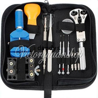 Wholesale New set Watch Case Opener Horologe Remover Adjuster Repair Tool Portable Handy Box Set Kit dandys