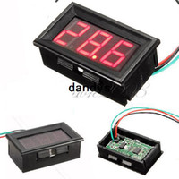 Digital Only -10 °C ~ +65 °C 1% Mini DC 0V To 99.9V Red Three-wire LED Digital Display Panel Voltage Meter Voltmeter for Car Motorcycle and DIY ect,dandys