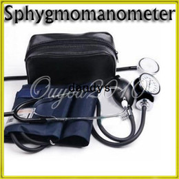 Wholesale Household Upper Arm Blood Pressure Meter Cuff Stethoscope Sphygmomanometer Kit Portable Medical Measurement Health Care dandys