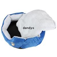 Wholesale New SKY Blue Pet Dog Puppy Cat Soft Fleece Warm Bed House Plush Cozy Nest Mat Pad Size L S dandys