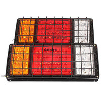 Wholesale Pair v v LED Stop Rear Tail Indicator Reverse Lamps Lights Trailer Truck Van dandys