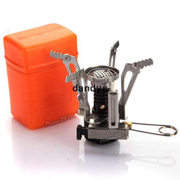 Wholesale Portable Outdoor Gas Powered Butane Propane Steel Camping Picnic Stove with Case dandys