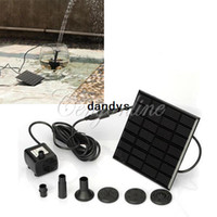 Wholesale Solar Panel Power Submersible Fountain Pond Pool Water Cycle Pump Outdoor Garden Brushless High Quality dandys
