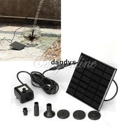 Wholesale Panel Solar energía sumergible fuente estanque piscina ciclo del agua la bomba al aire libre jardín Brushless alta calidad envío gratis dandys