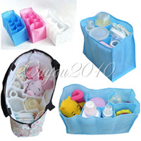baby bottle liners - Outside Bag Baby Infant Diaper Nappy Bottle Sundries Changing Storage Bag Tote Handbag Liner Cell Divider Organizer Pouch dandys