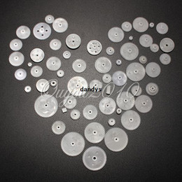 Wholesale 58 Styles A Pack Plastic Single And Double Gears Worm Gear Pulley Gear All The Module Robot Parts Accessories DIY Free shipp dandys