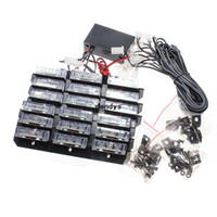 12V 30W 54 LED flash ámbar blanco del coche de emergencia 6 barras de luces de advertencia Strobe Lamp envío, dandys