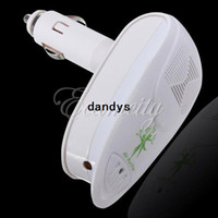 Wholesale New White Mini Auto Car Air Fresh Purifier Freshener Ionizer Ozone Oxygen Bar DC V dandys