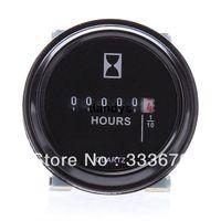 Wholesale 2 quot Round Hour Meter Hourmeter Cart Marine Boat Generator Engine VDC Black dandys