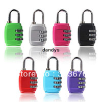Wholesale Digit Metal Zinc Mini Alloy Lock Password Portable Resettable Combination Suitcase Padlock Luggage Protector dandys