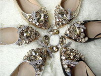 Wholesale 2013 Womans New Arrival Fashion Cute Princess Girls Crystal Rhinestone Pointed Toe Slip on Ballet Flats Shoes