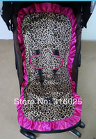 Wholesale two side revisiable pram liner stroller cover high chair cover leopard and hot pink minky amp match safty belt cover
