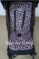 Wholesale two side revisiable pram liner stroller cover high chair cover leopard and pink minky safty belt cover