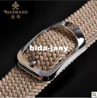 fabric belts - Men Novelty belt Fashion designer belt Luxury Fabric belt Manbang belt MB0056J07