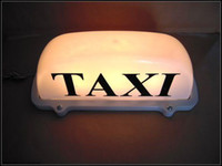 Wholesale New Magnetic Roof Top Taxi Cab Sign Light white Limo