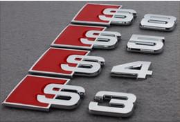 Wholesale 20pcs D Metal S3 stickers for Audi chrome badges emblems bumper stickers car styling