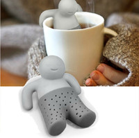 Wholesale Bathing Kids Shape Tea Infuser Mr Tea strainer Filter Teabags Mesh Bag for Coffee Tea Leaves Drinkware Tools