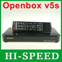 Wholesale 5pcs Newest Original Openbox V5S HD full p satellite receiver support usb wifi pvr youtube youporn cccamd europe fedex