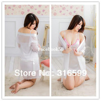 Woman sexy clothing wholesale - Snow White Costumes Set Braces Thong Lingerie Sexy Clothing Set Sleepwear Women Drop Ship US1387